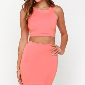 Lulu's Two Piece Coral Set